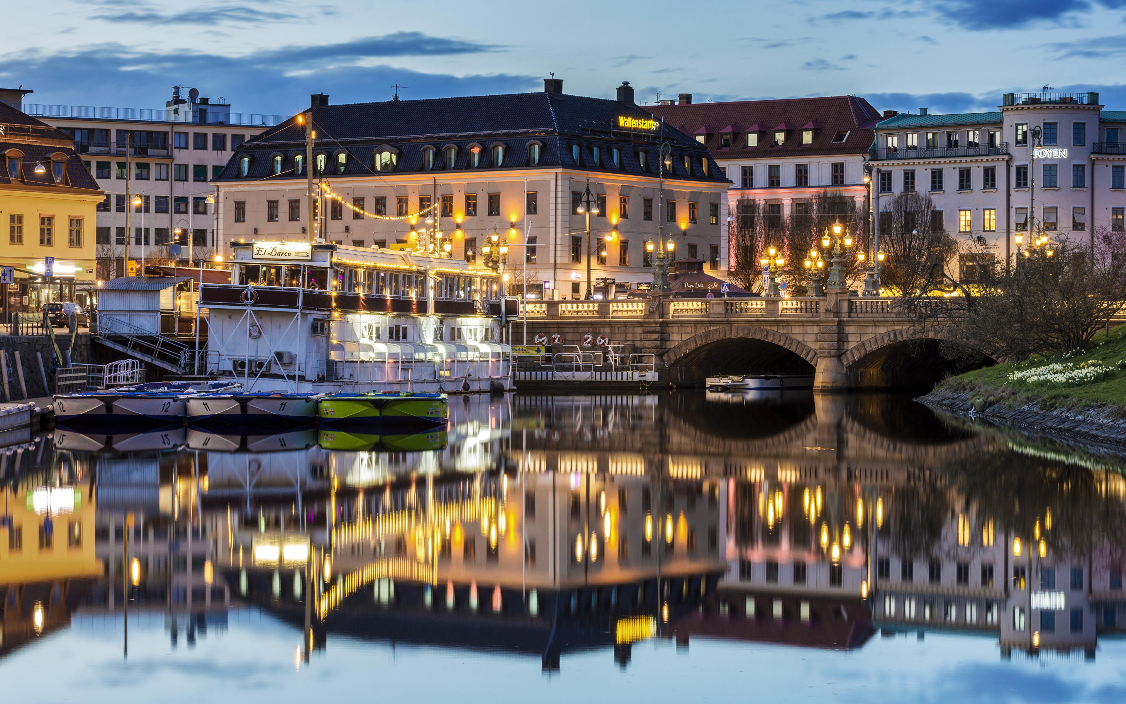 Обои Вечер, швеция, гетеборг. Города foto 16