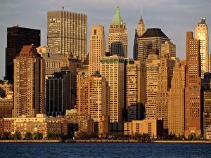 Фотография Небоскребы Штаты Нью-Йорк город