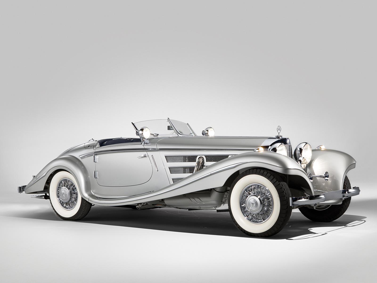 Обои для рабочего стола Мерседес бенц 540K Special Roadster 1937–38 Родстер Автомобили 1600x1200 Mercedes-Benz авто машина машины автомобиль