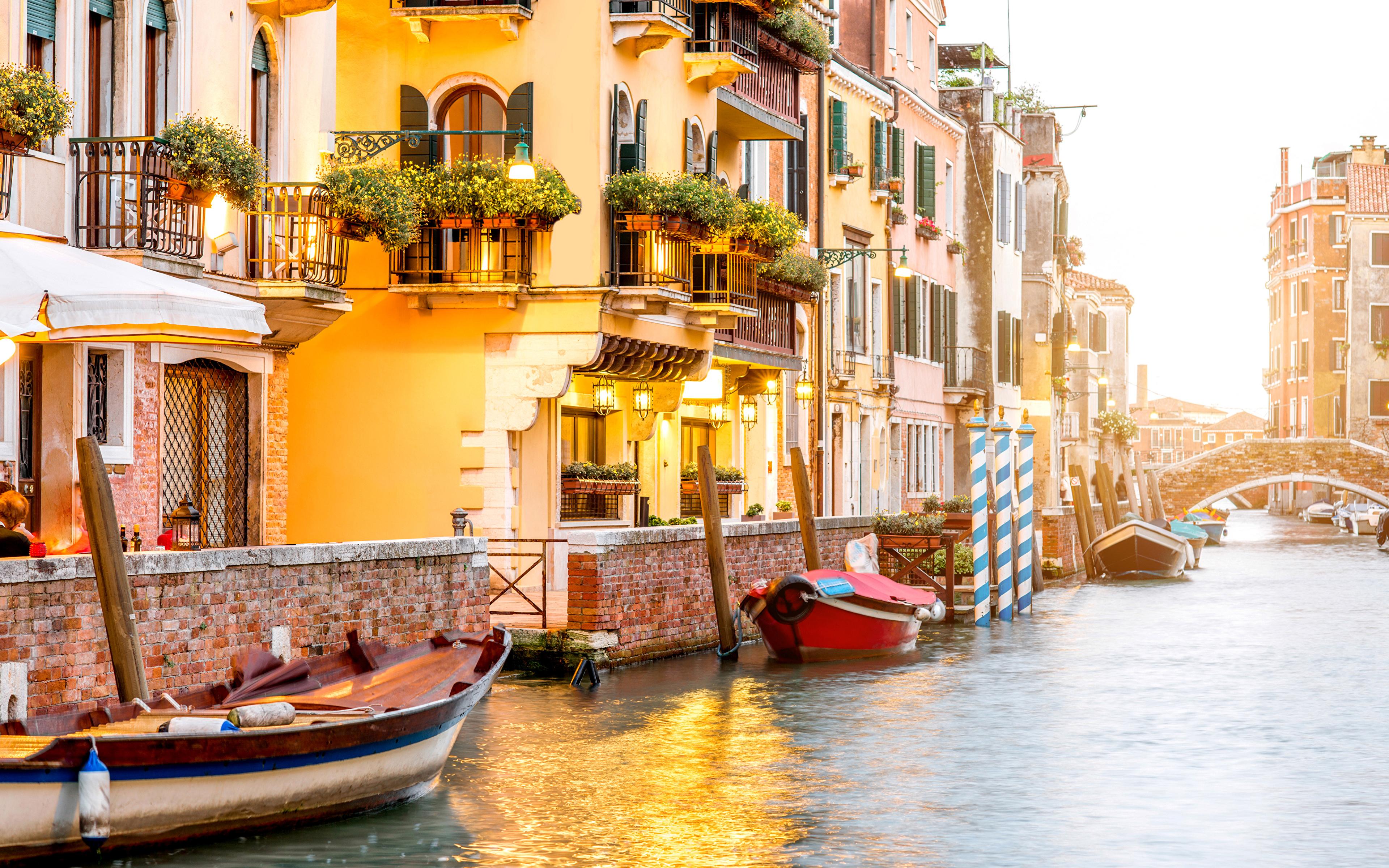 Обои лодка, канал, венеция. Города foto 8