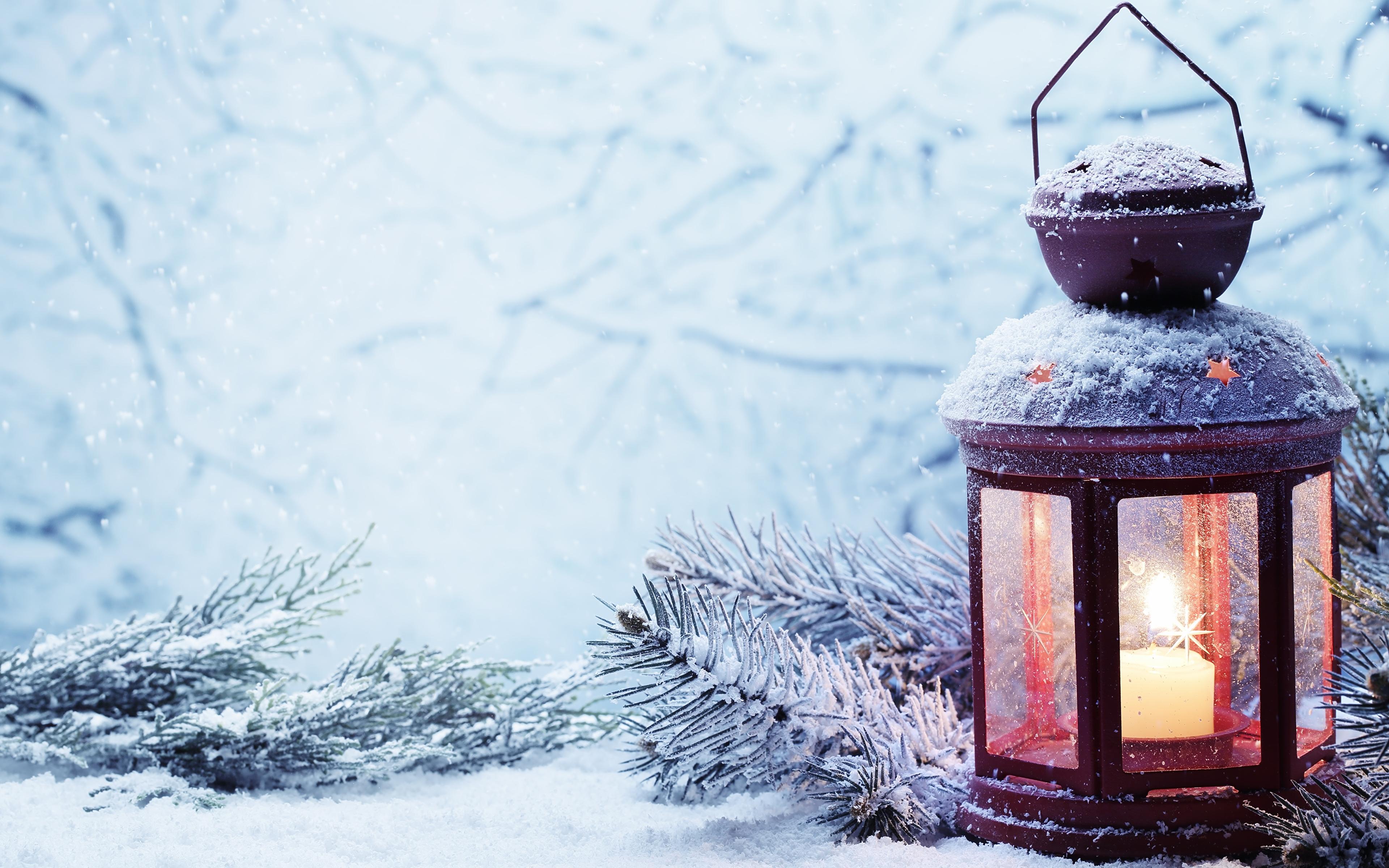 новый год фонарь сердца снег бесплатно