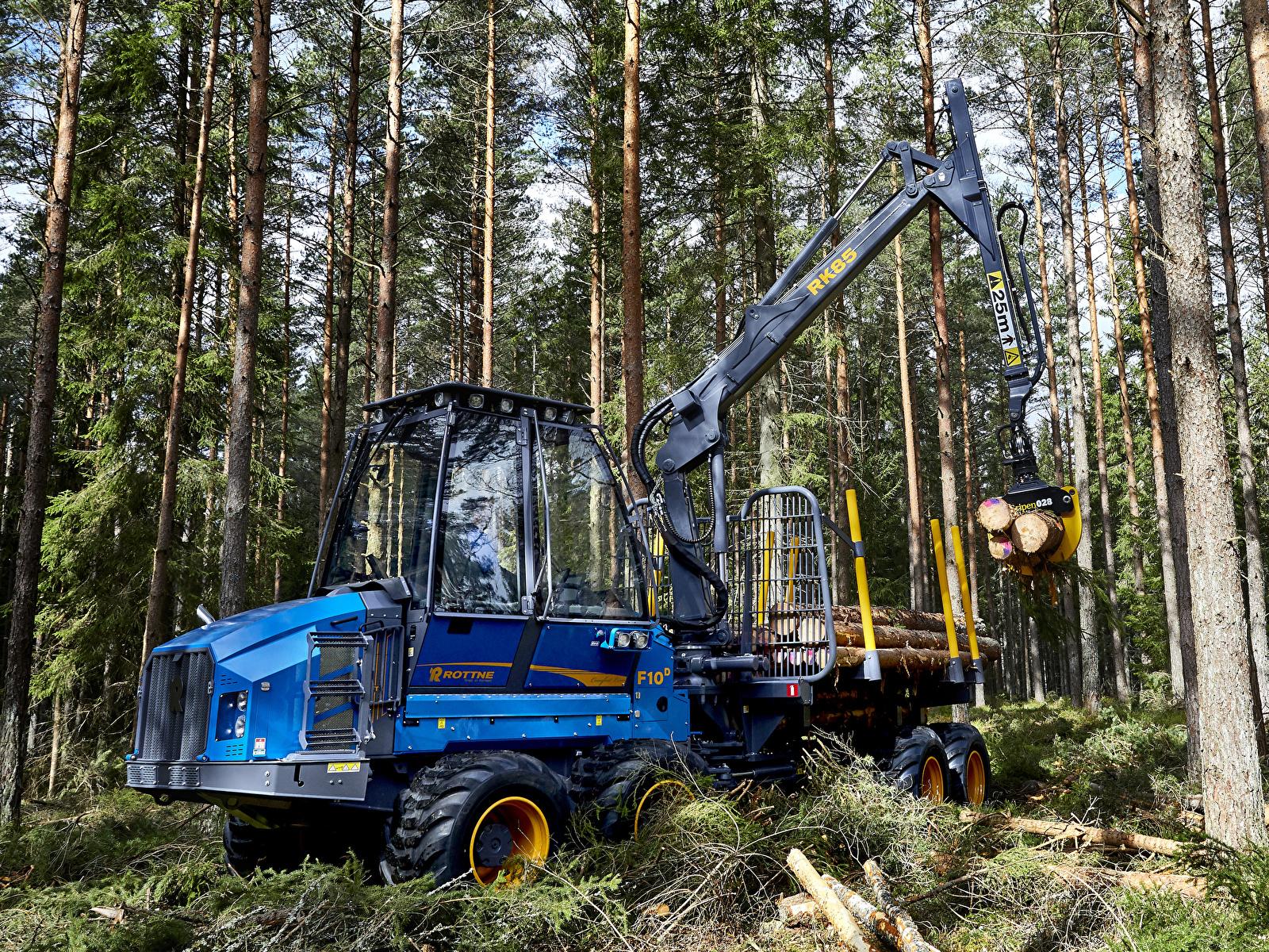 Картинки Форвардер 2016-18 Rottne F10D Бревна Леса 1600x1200 бревно лес