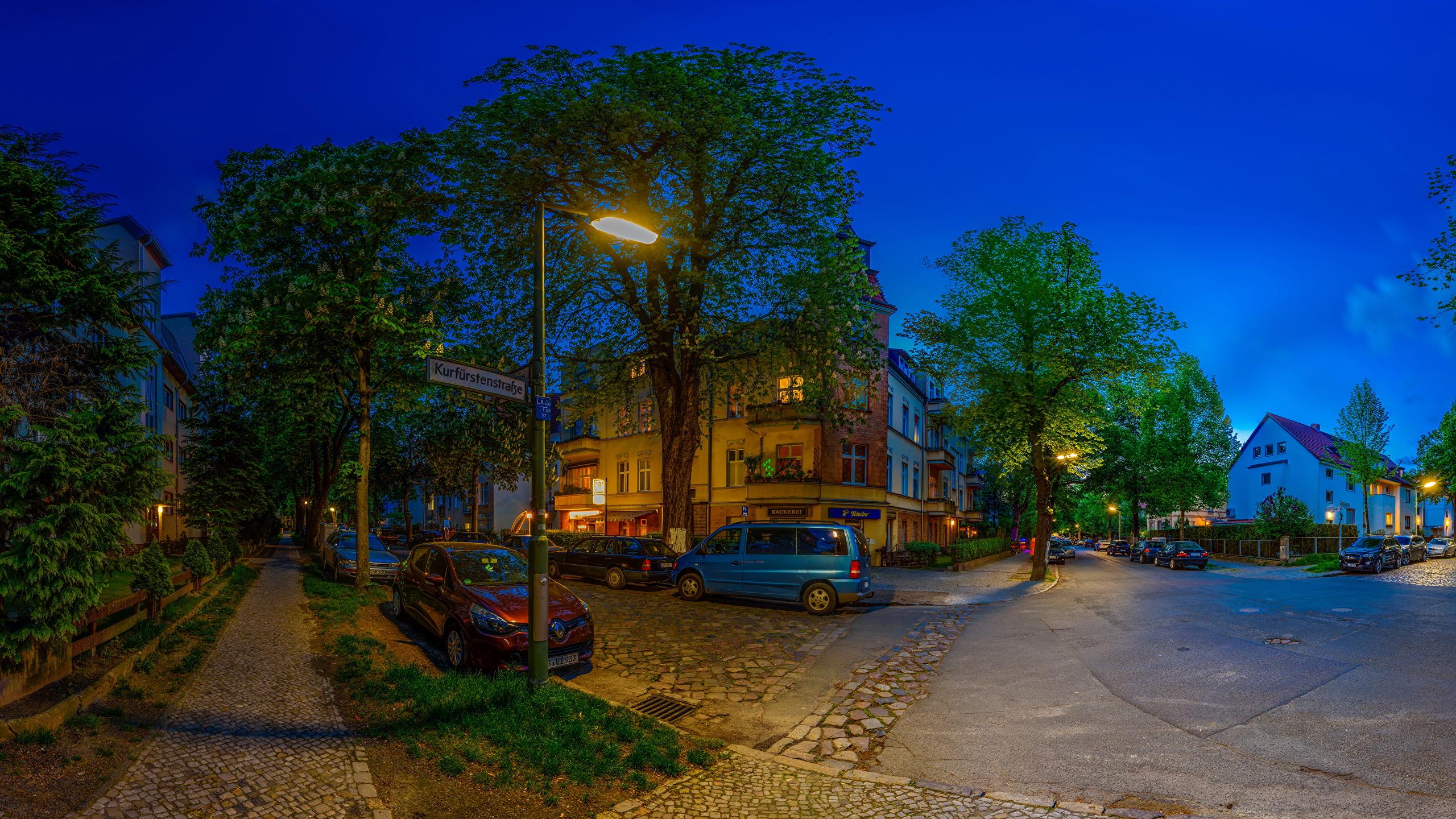 Обои улица, ночь, дома, фонари, германия, дороги. Города foto 7