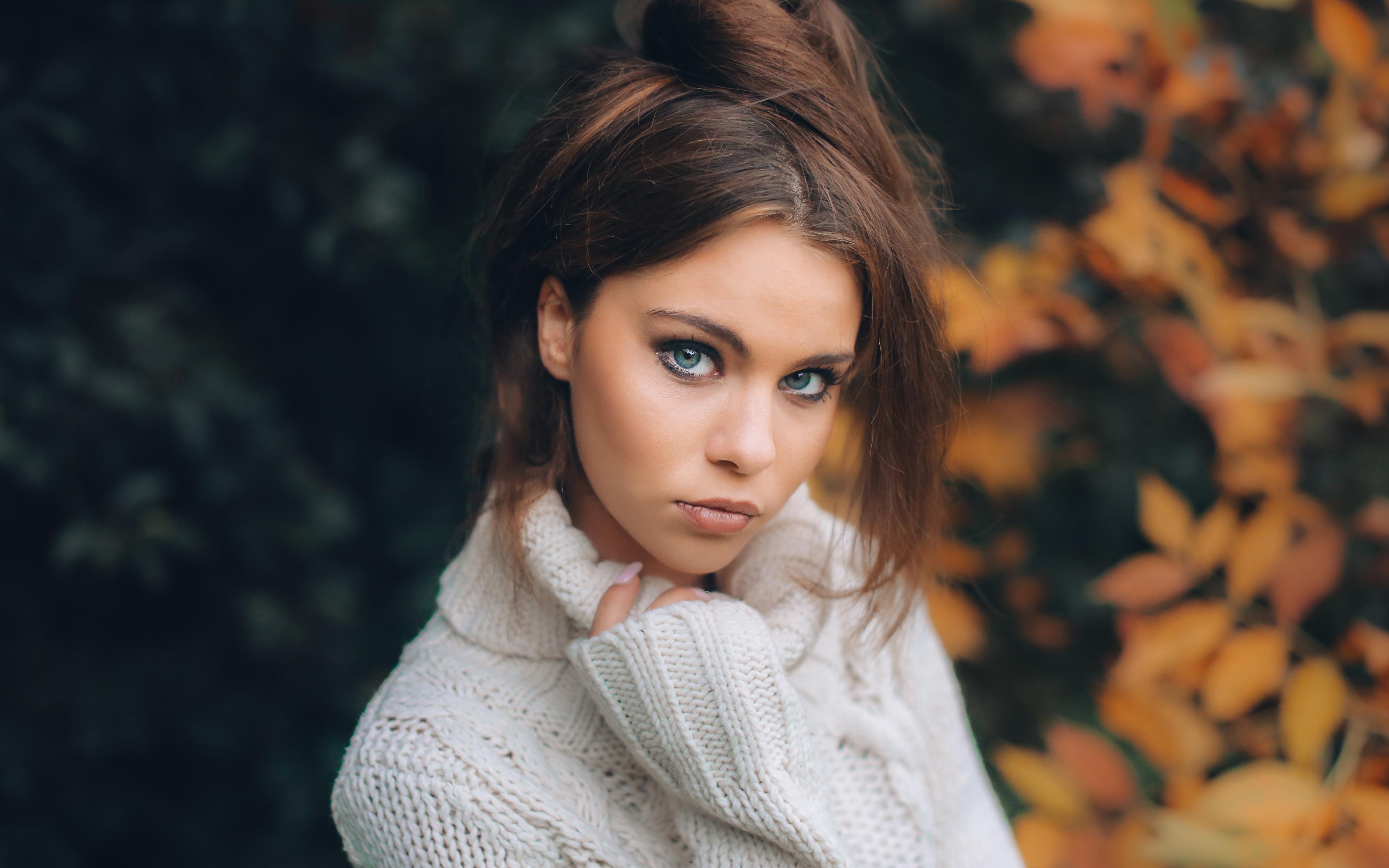 девушка взгляд лицо осень без смс