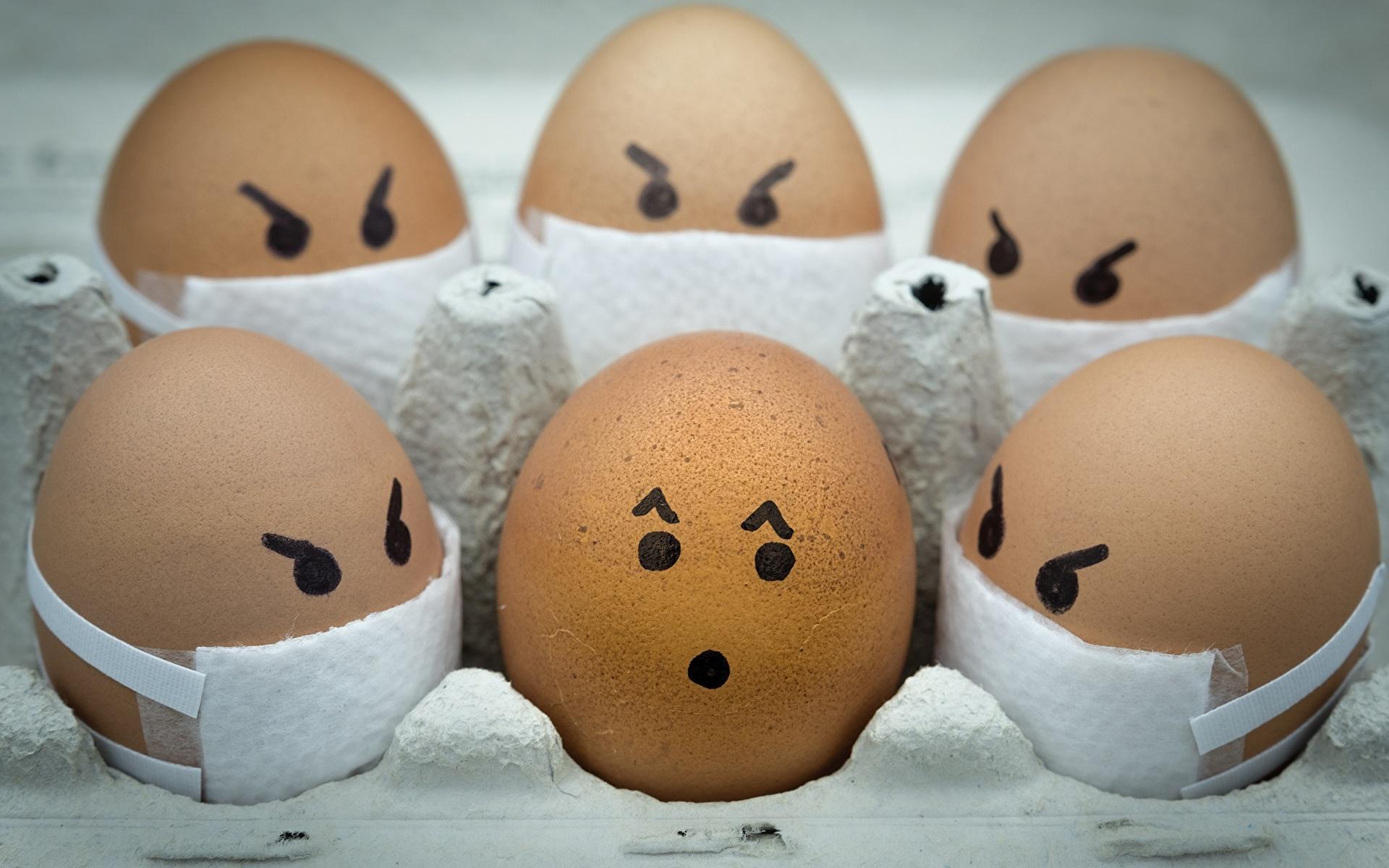 Обои для рабочего стола Коронавирус Смайлы Ali Khataw Яйца 1920x1200 смайлики яиц яйцо яйцами