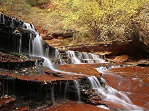 Обои Водопады Ручей Природа