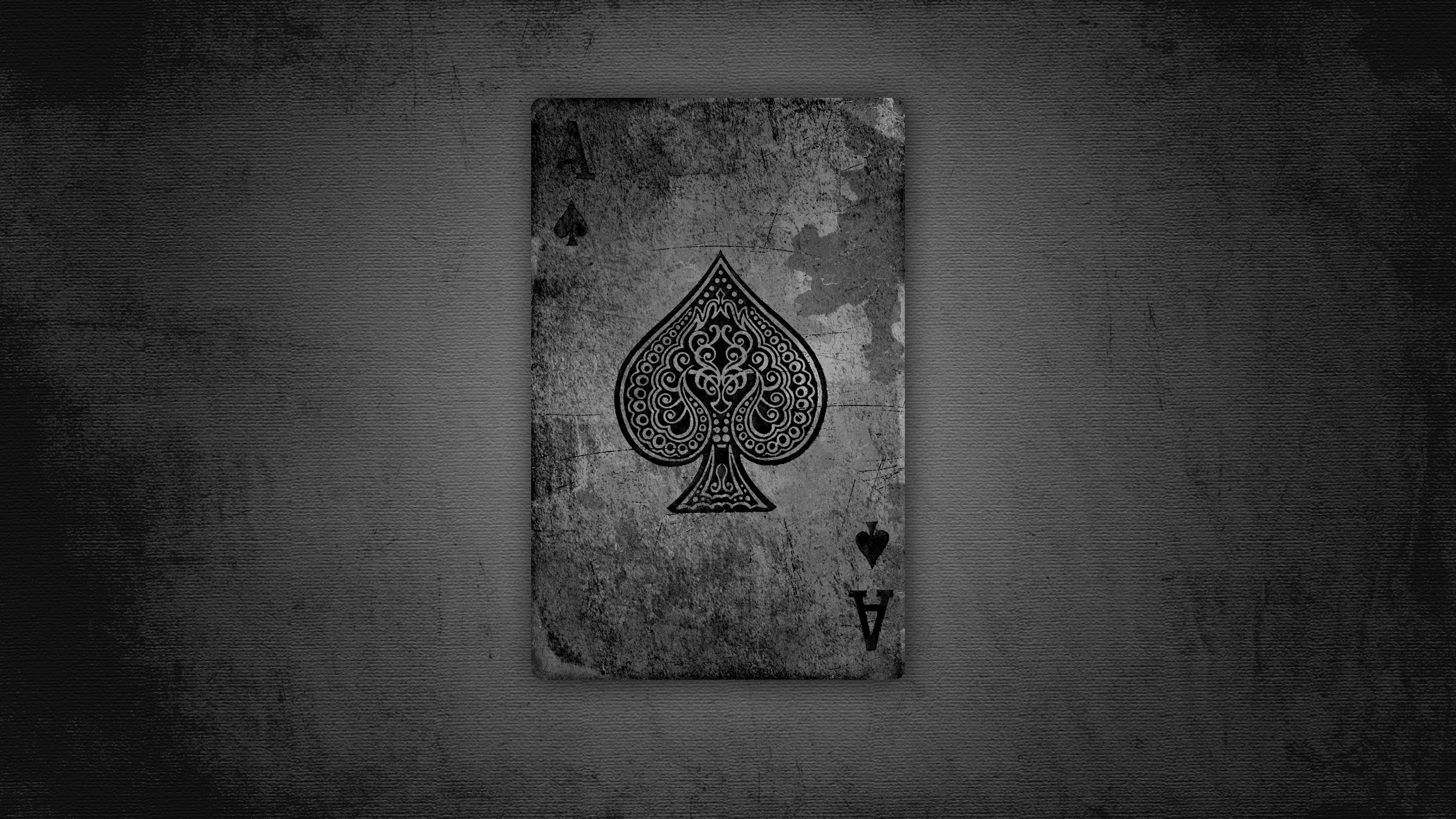 Фотография Туз Карты Старый вблизи 2560x1440 старые старая игральные карты Крупным планом