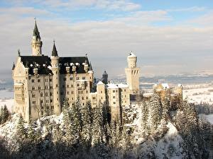 Фотографии Германия Нойшванштайн Города
