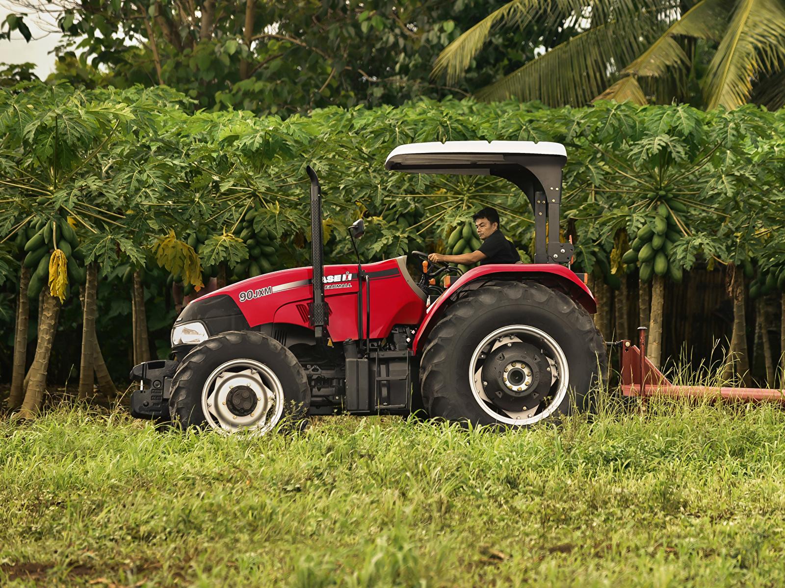Картинка Сельскохозяйственная техника трактора 2015-19 Case IH Farmall 90JXM Сбоку 1600x1200 Трактор тракторы