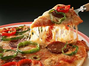 Картинка Пицца Кусок кусочек пиццы Продукты питания