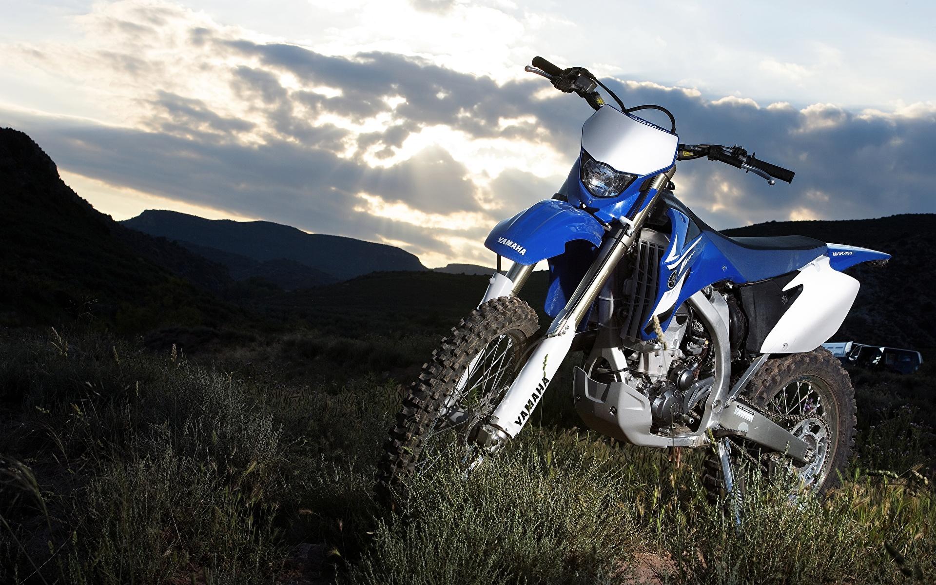 Картинки Ямаха 2007-10 WR450F мотоцикл 1920x1200 Yamaha Мотоциклы