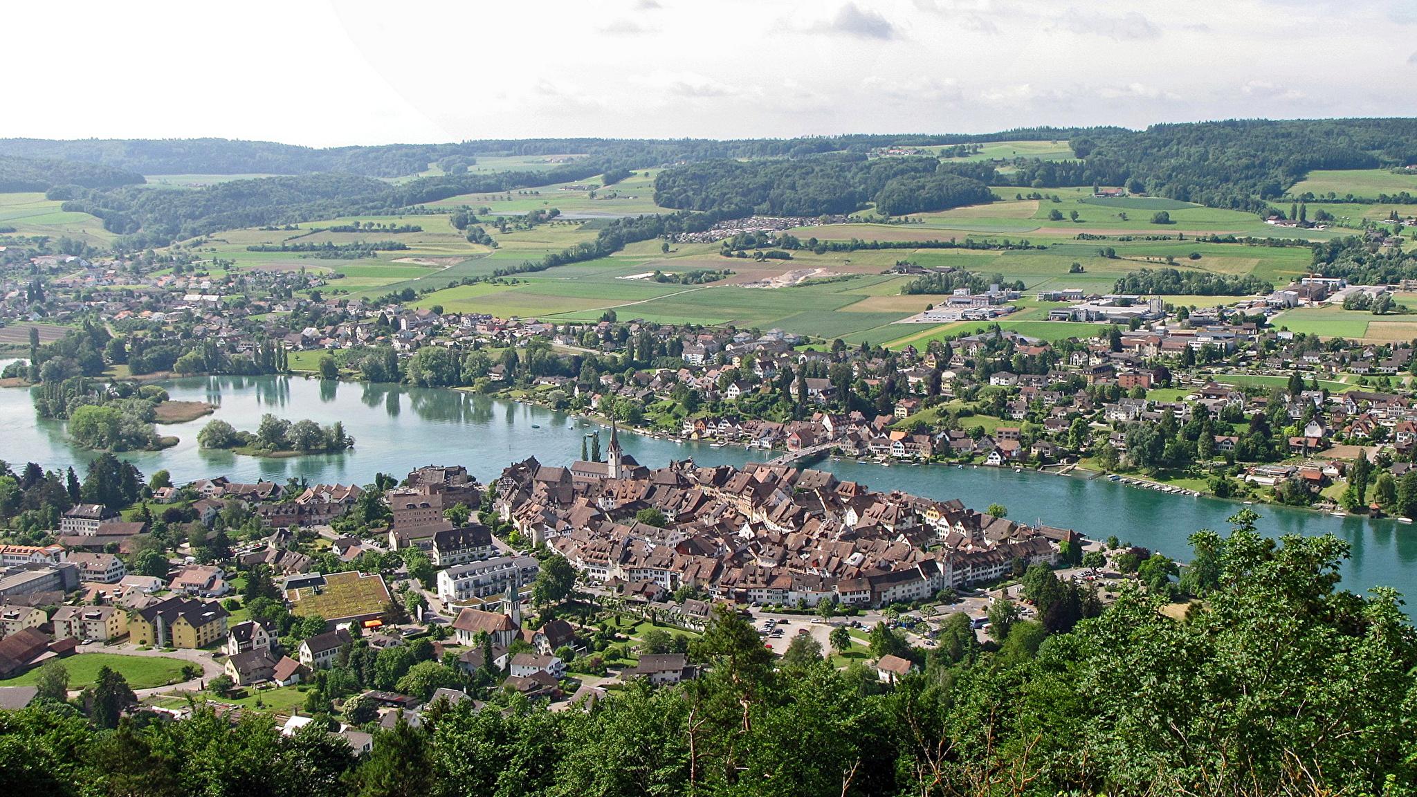 Vineyard at Sunset, Munot Castle, Schaffhausen, Switzerland анонимно