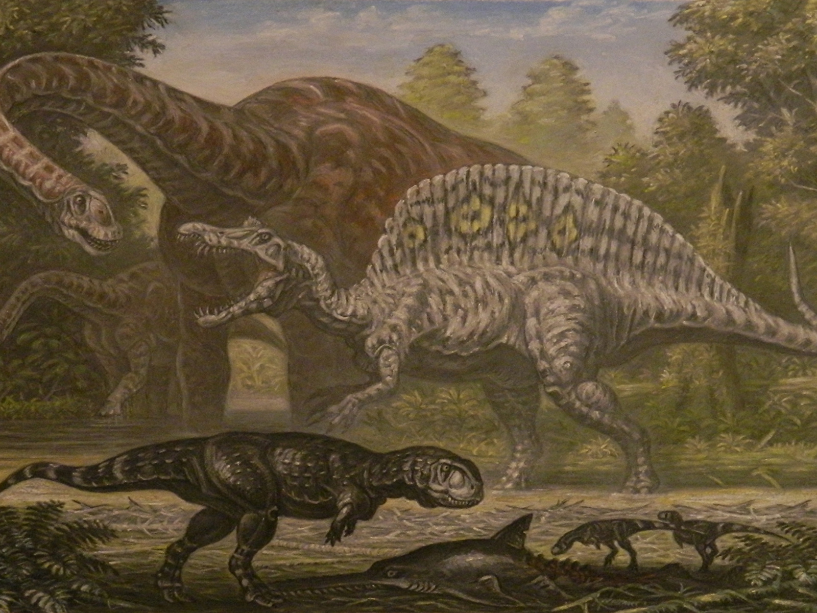 Ancient_animals_Dinosaurs_Painting_Art_P
