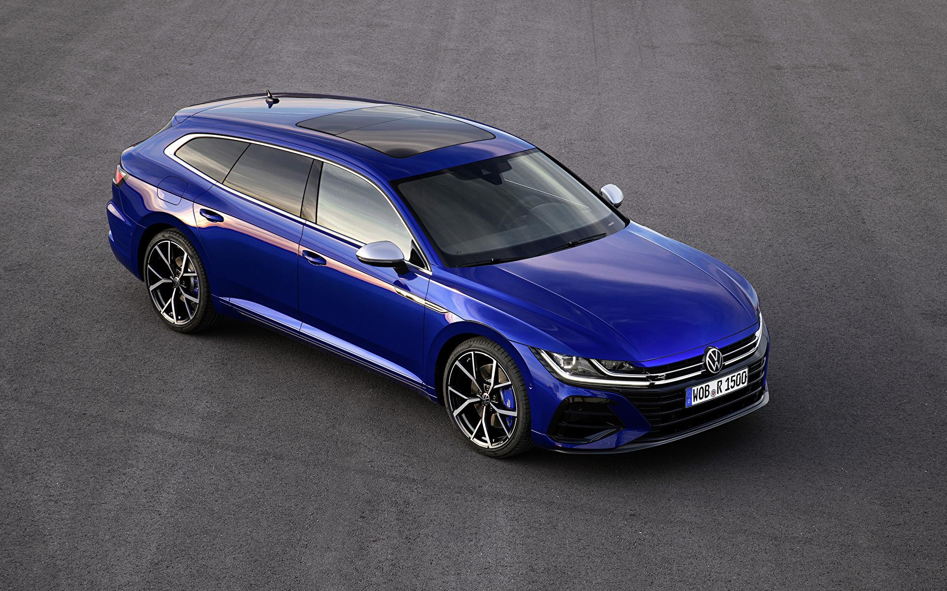 Обои для рабочего стола Volkswagen 2020 Arteon Shooting Brake R Worldwide Синий Металлик Автомобили 1920x1200 Фольксваген синяя синие синих авто машины машина автомобиль
