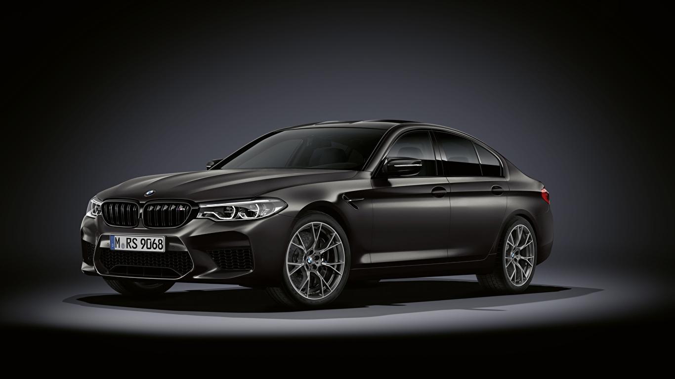 Фотография БМВ M5, F90, 2019, Edition 35 Years черная Автомобили 1366x768 BMW Черный черные черных авто машины машина автомобиль