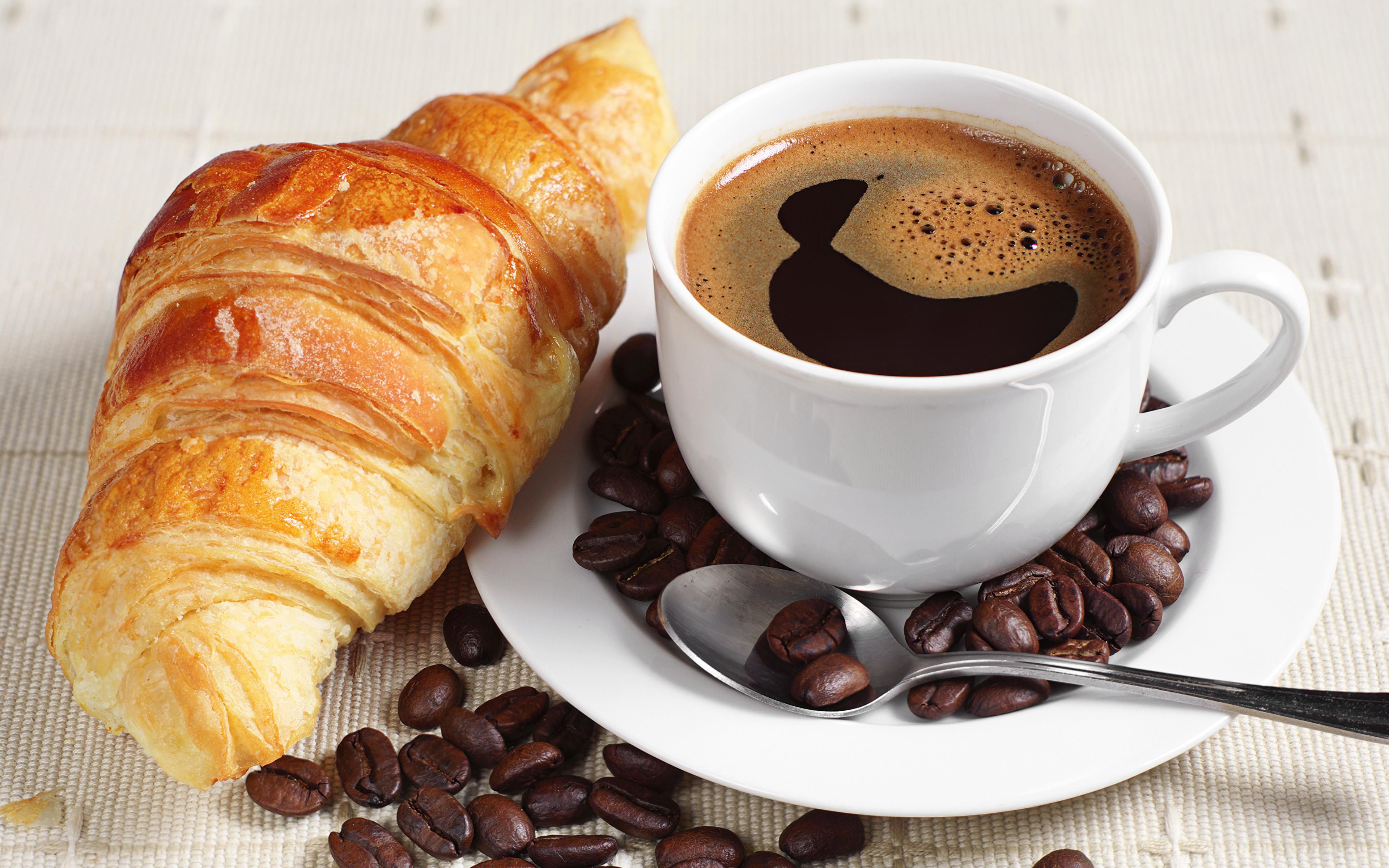 еда круасаны кофе зерна загрузить