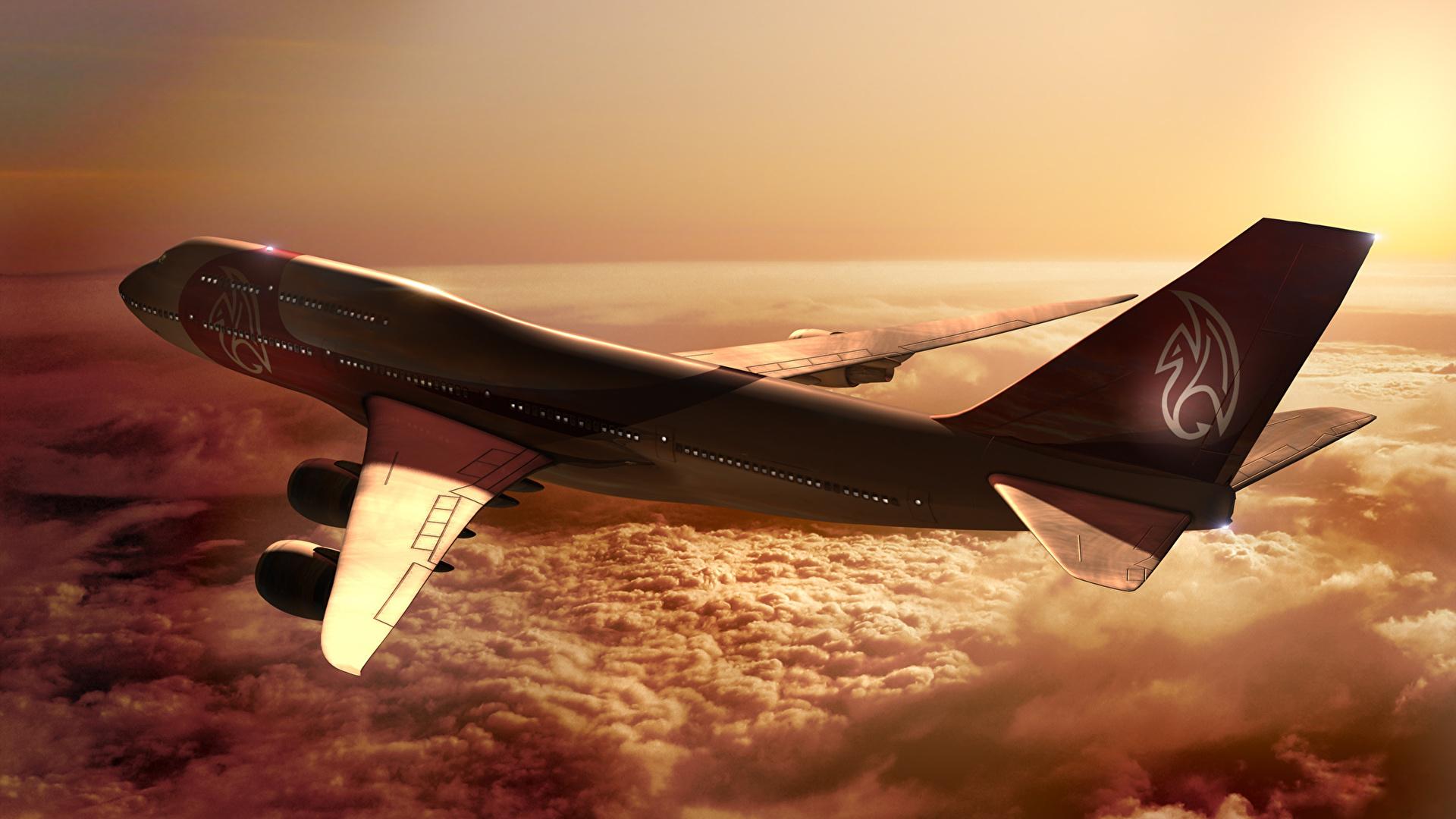 Обои boeing 747. Авиация foto 16