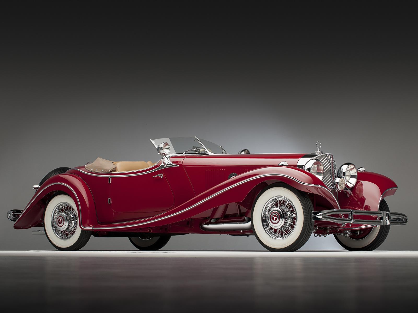 Картинки Mercedes-Benz 500K Luxury Roadster 1935 Родстер Автомобили 1600x1200 Мерседес бенц авто машина машины автомобиль