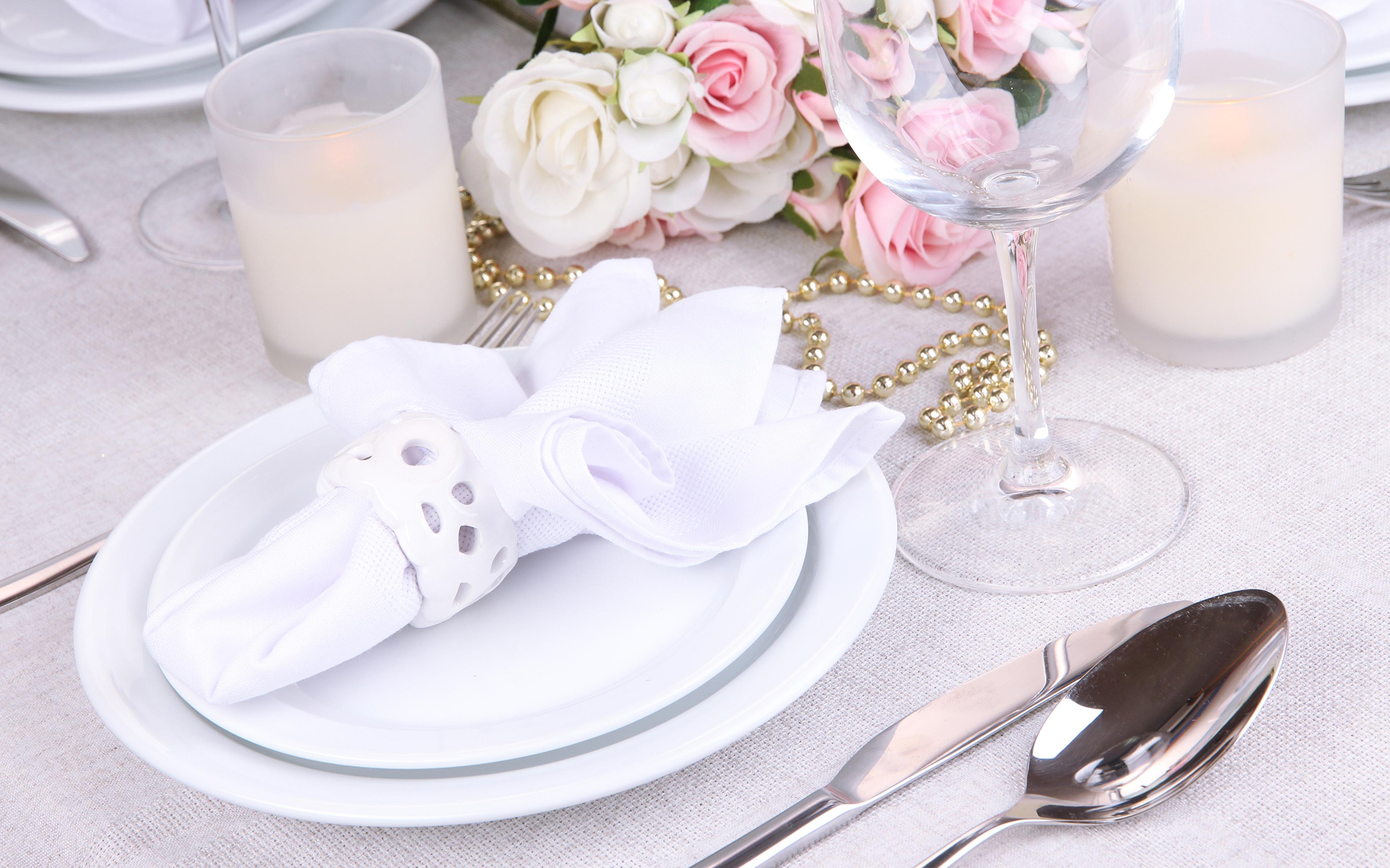 Обои тарелка, стол, свечи. Разное foto 9