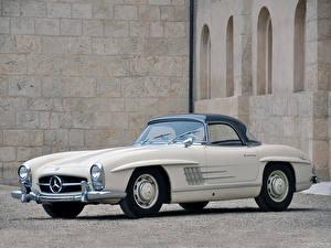 Обои Mercedes-Benz Родстер 300SL Roadster US spec [R198] 1957–63 машина