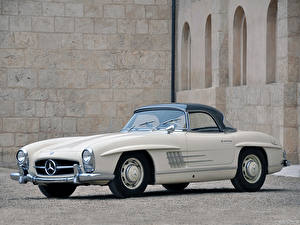 Обои Mercedes-Benz Родстер 300SL Roadster US spec [R198] 1957–63 Машины