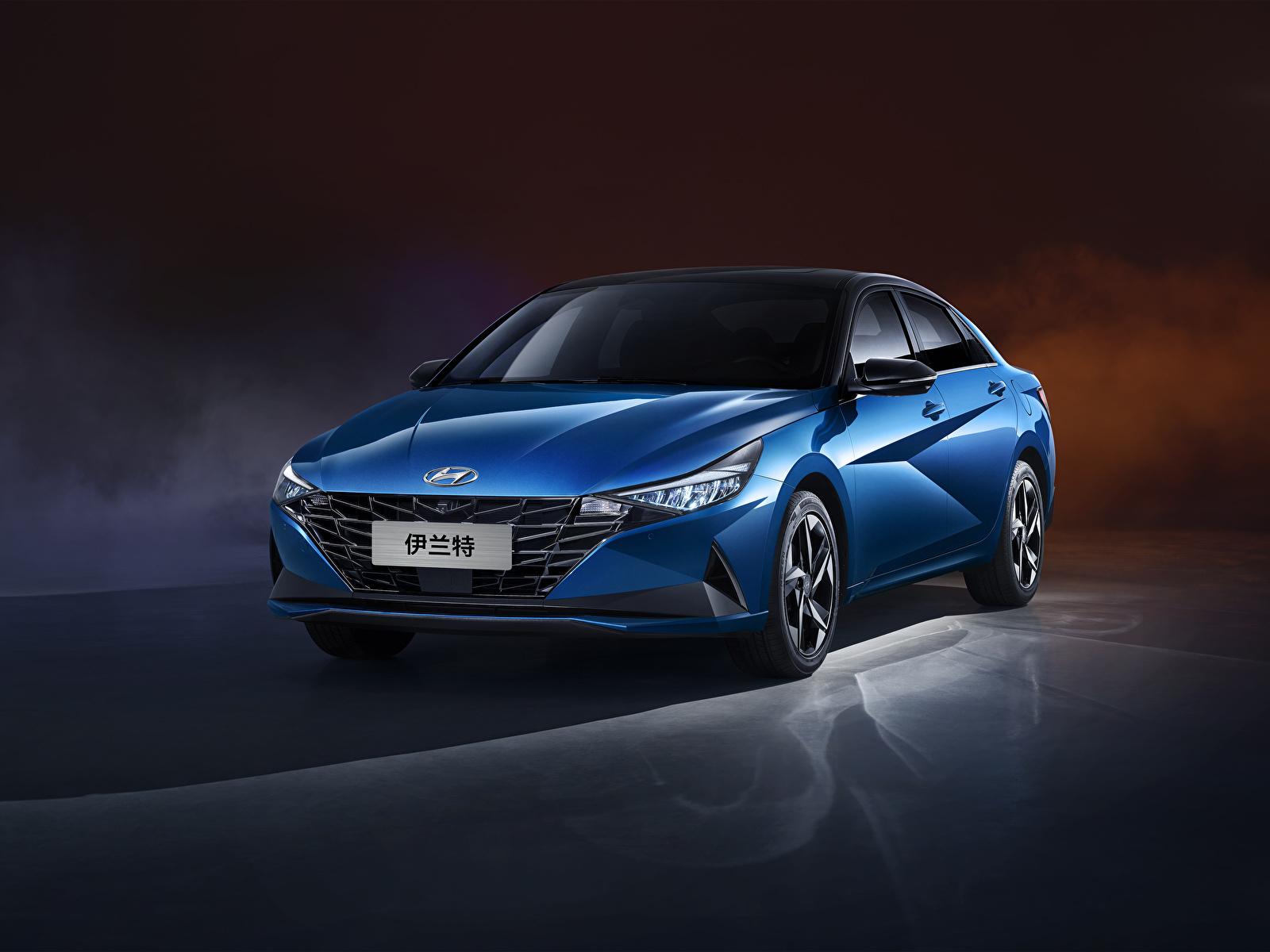 Фотографии Хендай Синий Металлик Автомобили 1600x1200 Hyundai синяя синие синих авто машины машина автомобиль