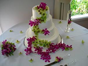Обои Торты свадебный