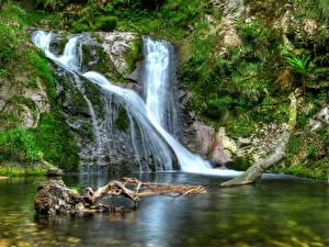 Фотография Водопады Ручей Природа