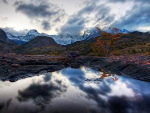 Фотография Горы Небо Аргентина Облако Природа