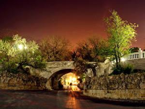 Фото Мосты Россия Крым Ночью Севастополь город