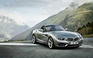 Картинки BMW Горы Фары Спереди Металлик Роскошные Родстер 2012 Roadster Zagato автомобиль