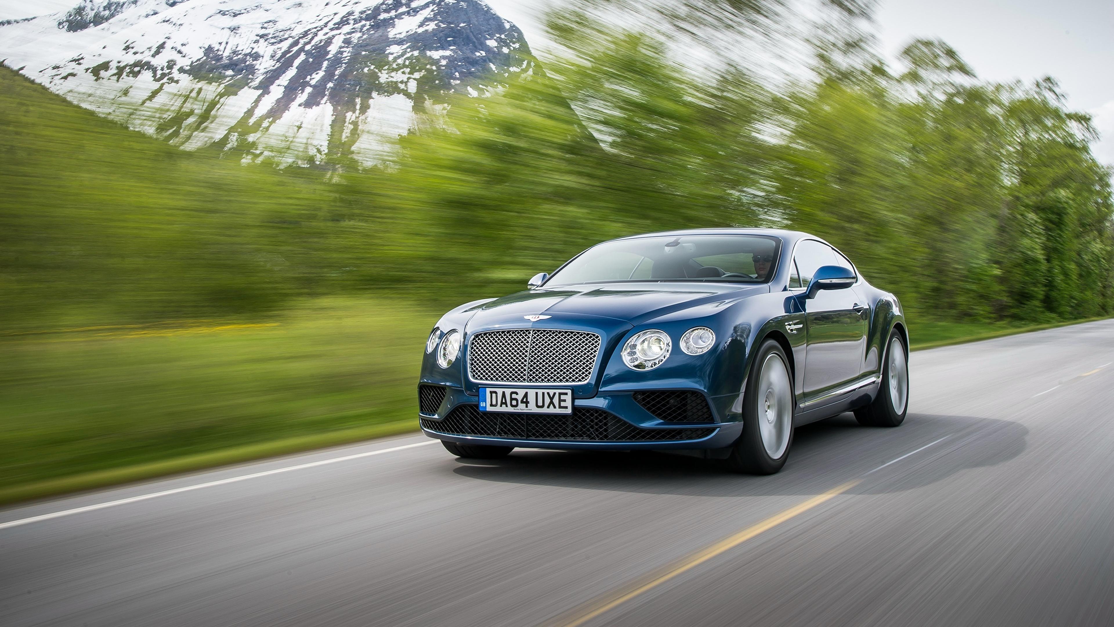 синий автомобиль Continental GT Speed без смс