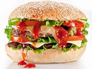 Фото Гамбургер Фастфуд Кетчупа Пища
