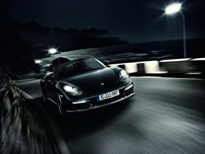 Обои Porsche Кабриолет Спереди 2011 Boxster S Black Edition Автомобили