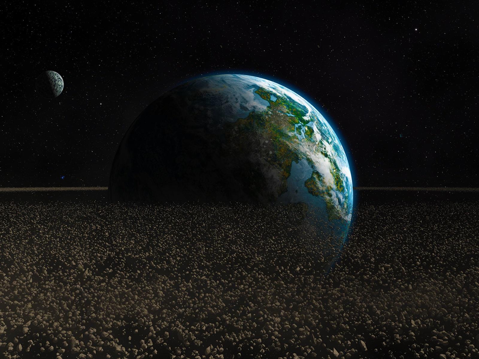 Обои земля, астероиды. Космос foto 11