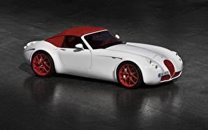 Фотографии Wiesmann Белый Дорогие Родстер 2009 Roadster MF5 Limited Edition Машины