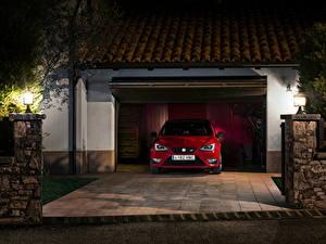 Картинка Сиат Красный Спереди 2013 Seat Ibiza Cupra Автомобили