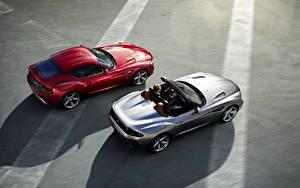 Фотографии BMW Красный Серебристый Кабриолет Сверху Люксовые Родстер 2012 Roadster Zagato