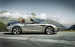 Фотография BMW Серебристый Люксовые Кабриолет Сбоку Асфальт Родстер 2012 Roadster Zagato