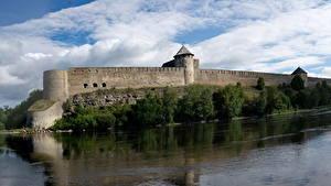 Фотография Россия Реки Крепость Ивангородская Города