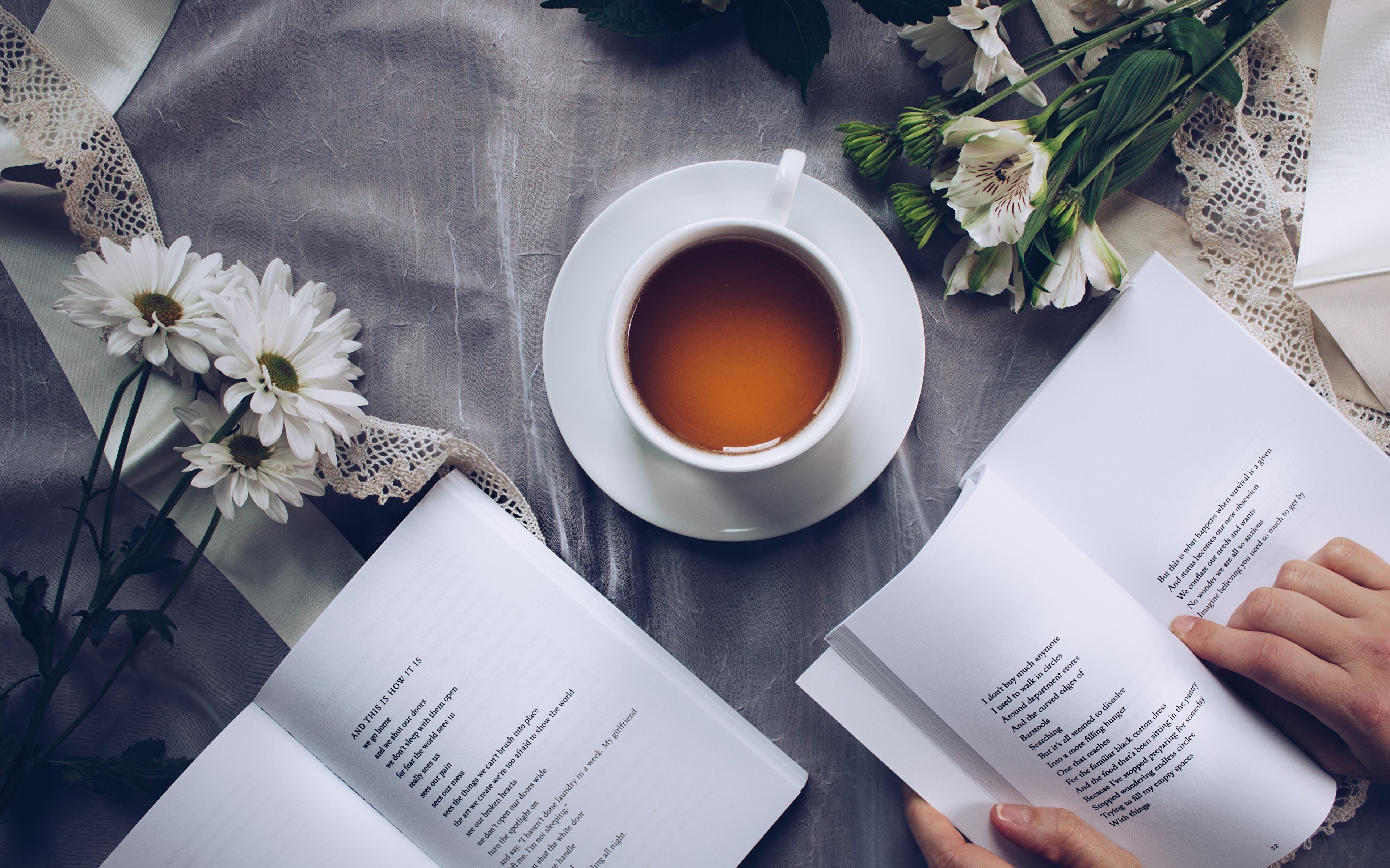 Обои book, cup, книга, tea, чай. Разное foto 8