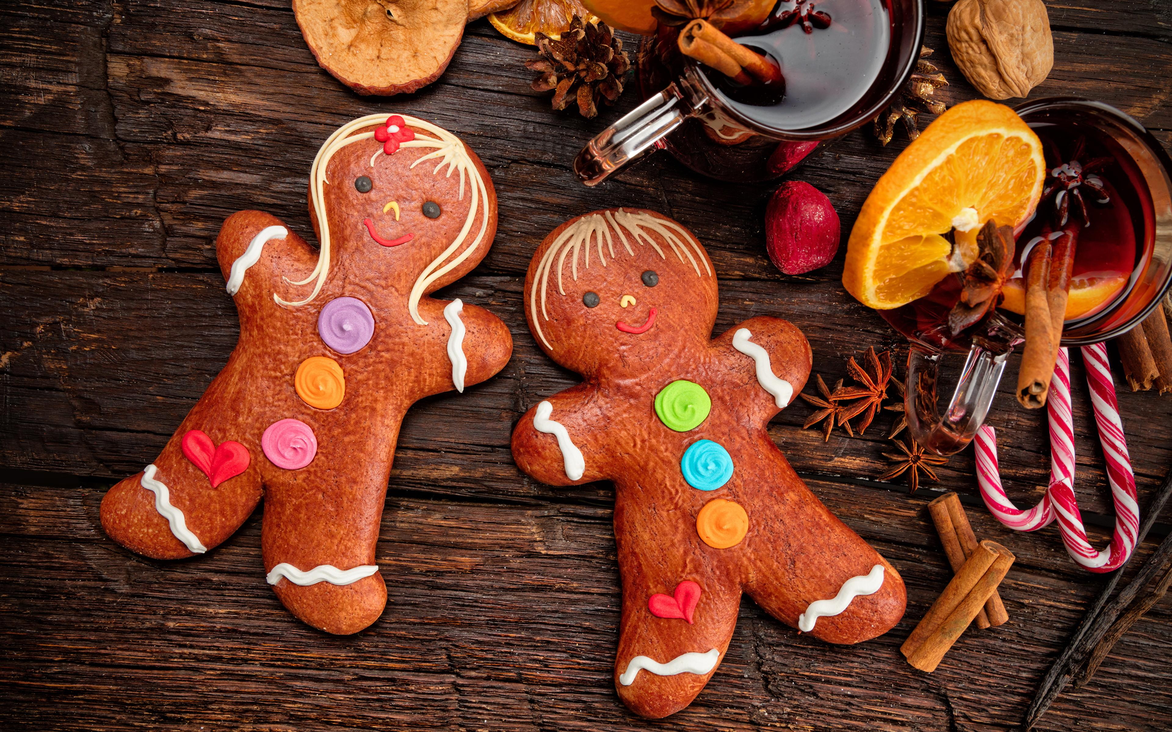 Фото Рождество Бадьян звезда аниса Корица Еда Печенье сладкая еда дизайна 3840x2400 Новый год Пища Продукты питания Сладости Дизайн