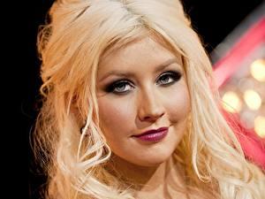 Обои Christina Aguilera Лица Блондинка Смотрит Волос Красивые Музыка Девушки Знаменитости