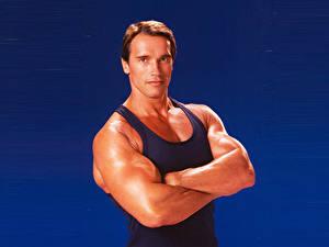 Картинки Arnold Schwarzenegger Мужчины Майки Красивые Знаменитости