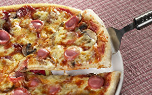 Обои Фастфуд Пицца Вблизи Пища Еда