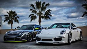 Картинки Porsche Спереди Белых 911 авто