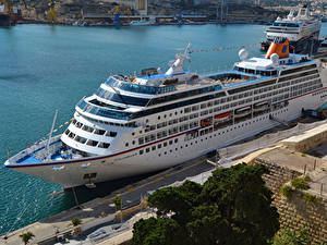 Фото Корабль Круизный лайнер Причалы Columbus 2