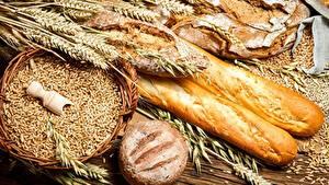 Фото Выпечка Хлеб Пшеница Колос Зерно Еда