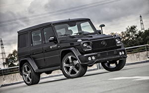 Обои Mercedes-Benz Гелентваген Черный 2013 G-klasse W463 машина