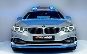 Картинки БМВ Спереди Фары Голубая 2013 428i Police version Schnitzer авто